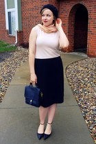 black coach bag - cream Lord and Taylor sweater - black Jcpenny skirt
