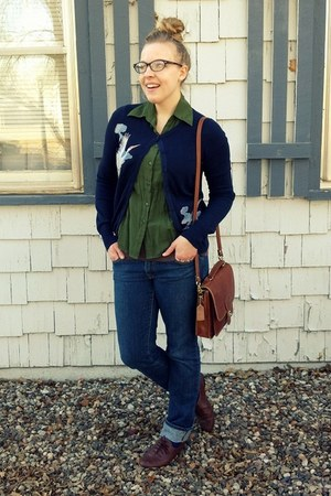 navy Lucky Brand cardigan