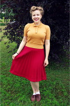 ruby red vintage skirt