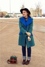 Blue-vintage-coat-green-vintage-coat-black-vintage-hat