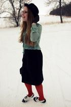 burnt orange Target tights - black Target skirt