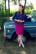 hot pink Jcpenny dress
