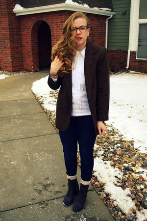dark brown vintage blazer