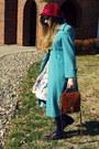 Turquoise-blue-vintage-coat