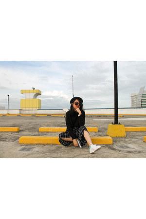 turtleneck H&M sweater - Sunnies studios sunglasses - Zalora pants