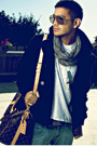 Brown-louis-vuitton-accessories-gray-america-apparel-scarf-black-h-m-jacket