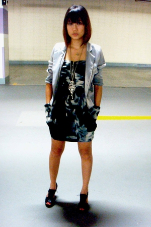jacket - Zara dress - shorts - accessories