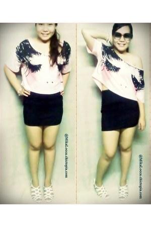 Forever21 top - vnc shoes - Forever21 skirt