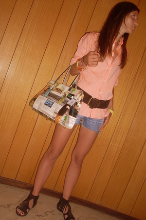 Harmont & Blain shirt - vintage belt - vintage shorts - Momaboma purse - Sixty S