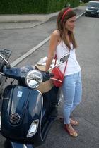 made by me accessories - tezenis top - Zara pants - Fendi purse - Mila Shon shoe