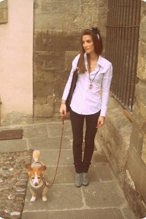 Custom-made shirt - Koan pants - vintage boots - chanel vintage necklace