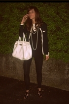 intimissimi t-shirt - vintage sweater - Zara leggings - balenciaga shoes