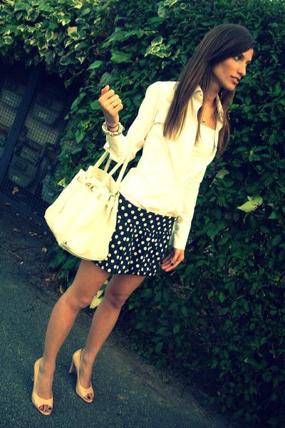 tailored shirt - Zara skirt - Reme Dur shoes