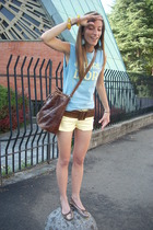 christian dior t-shirt - H&M shorts - vintage belt - gianfranco ferre purse - Ca