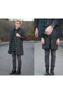 Black-dr-martens-boots-charcoal-gray-cheap-monday-coat