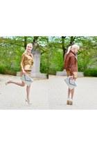Aviatrix jacket - off white Uterque bag - Zara skirt - Ideal heels