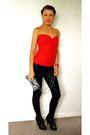 Red-own-design-top-black-leggings-black-h-m-shoes-red-mango-accessories-