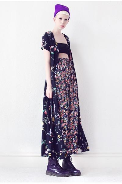 black floral print Mind the Mustard dress