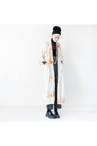 ivory kimono Mind the Mustard coat