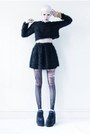 Black-platform-cute-to-the-core-shoes-black-mini-mind-the-mustard-skirt