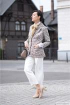 light brown Deichmann bag - white Mango pants