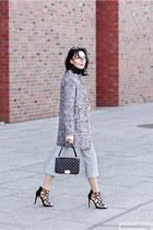 heather gray new look coat - silver Happiness Boutique necklace