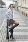 Charcoal-gray-boots-heather-gray-c-a-skirt