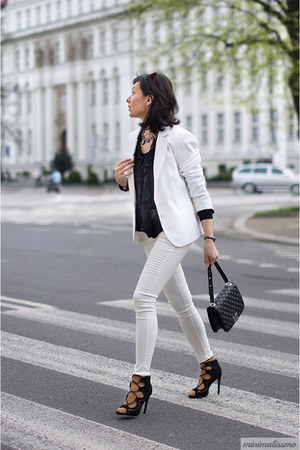 black Mohito bag - black Merg heels - white Orsay blouse