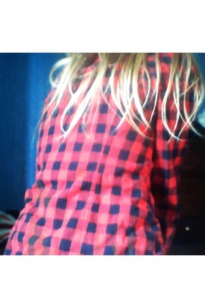 checkered new look blouse