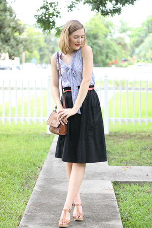 thredup shirt - Old Navy shoes - vintage Coach purse - Forever 21 skirt