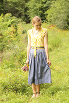 Anthropologie shirt - vintage skirt - Icings necklace