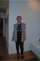 black black GINA TRICOT jeans - black chocker GINA TRICOT necklace
