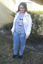 white babyphat jacket - gray Fifilapin shirt - black Topshop shoes