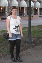 Forever21 shirt - EDC shorts - Forever21 leggings - from Europe shoes