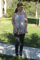 Zara shirt - Marshalls leggings - Vivanti shoes