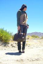 Louis Vuitton purse - Gap jeans - Dr Scholls shoes - random brand jacket