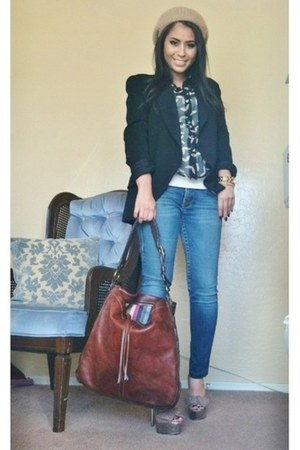 Steve Madden heels - True Religion jeans - donna karan blazer