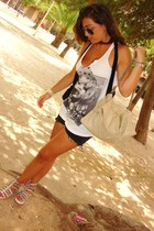 Bershka t-shirt - Bershka jacket - Zara shorts - need bless shoes - Zara accesso