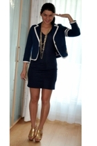 Victorias Secret blazer - Victorias Secret dress - H&M accessories - Bebe shoes