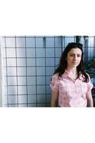 light pink Bijou Brigitte bracelet - pink kenvelo shirt - navy c&a shorts