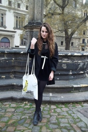 second hand coat - DIY bag