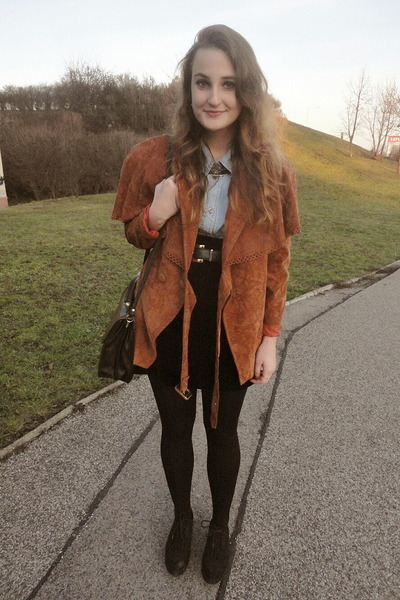 vintage jacket - H&amp;M shoes