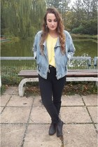 vintage jacket - second hand jeans - second hand sweater