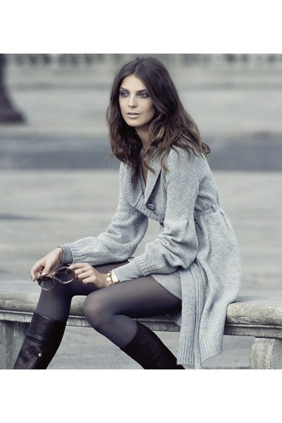 sweater - tights - boots