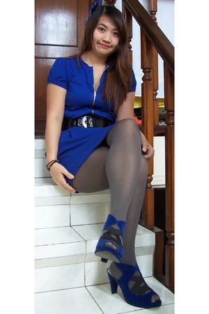 dress - tights - belt - shoes