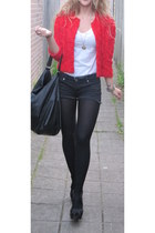 H&M blazer - River Island shoes - Forever 21 shorts