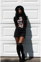 black Deena & Ozzy hat - Hot Topic shirt - Urban Outfitters shorts - Ebay socks