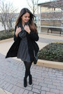 Black-target-boots-black-h-m-dress-black-h-m-coat-coral-h-m-blazer