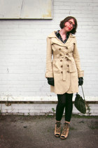 tan wedge modcloth boots - shirtdress Urban Outfitters dress