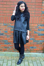 Heather-gray-koi-couture-boots-black-topshop-skirt